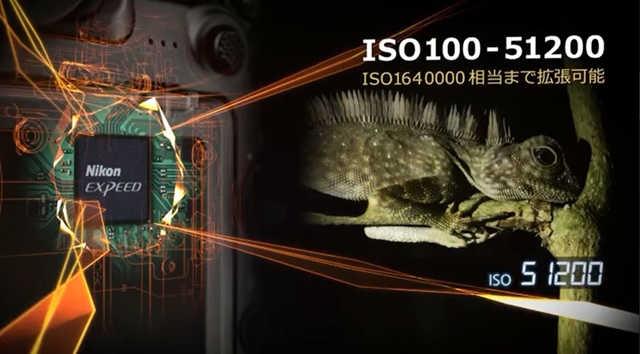D500はなんとISO51200まで常用可能