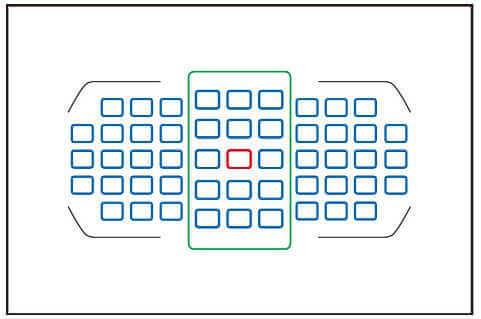 D7200のフォーカスポイントは51点でそのうち15点のみクロスタイプ